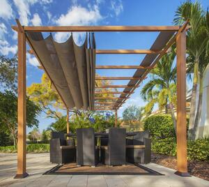 Paragon Outdoor Pavillon Florenz 11x16 Holzoptik