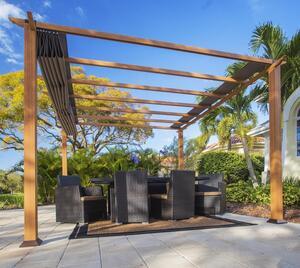 Paragon Outdoor Pavillon Florida 11x11 Holzoptik