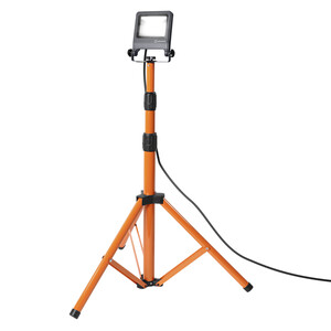Ledvance LED WORKLIGHT Fluter mit Stativ 1X30W 840 TRIPOD , ca. 78 x 68 x 175cm, Dunkelgrau/Orange