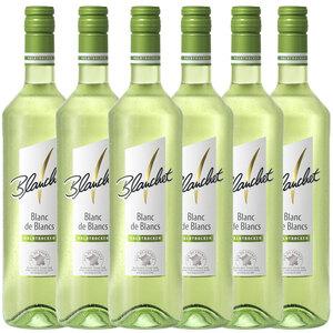 Blanchet Weißwein Blanc de Blancs Halbtrocken - 6er Karton