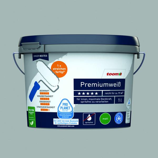 Premiumweiß matt, 1 Liter konservierungsmittelfrei