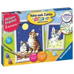 Ravensburger Malen nach Zahlen, 2er Set - Katzen