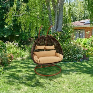 Hängesessel Home Deluxe Twin, Polyrattan