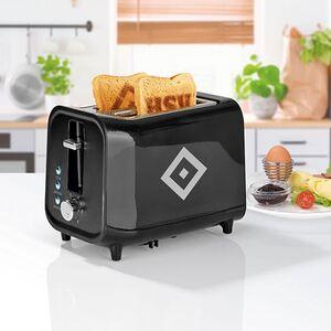 HSV Toaster mit Soundfunktion 800W schwarz/silber