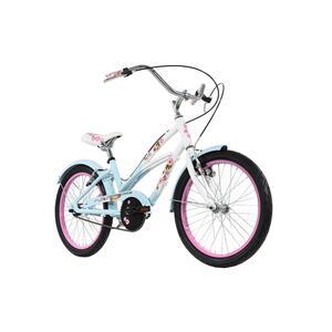 KS Cycling Kinderfahrrad Cruiser 20'' Cherry Blossom blau-rosa für Mädchen