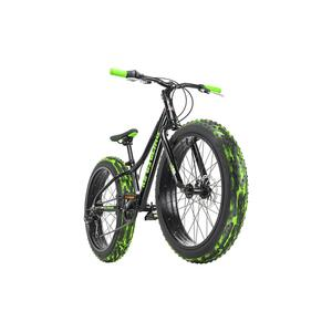KS Cycling Jugendfahrrad Fatbike 24'' Crusher Schwarz RH 30 cm für Jungen