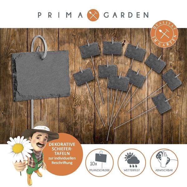Prima Garden Schiefer-Pflanzschilder 10er Set