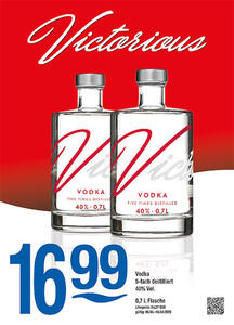 Victorious Vodka 5-fach destilliert 40% Vol.