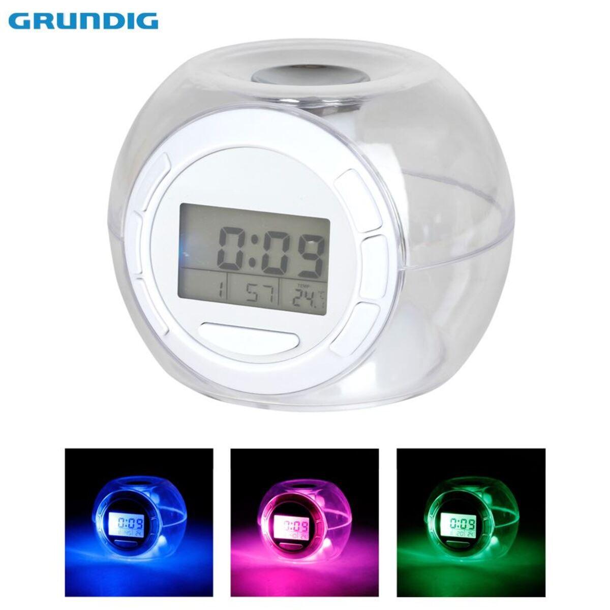 Bild 1 von Grundig LED-Kalenderuhr mit Weckerfunktion und Thermometer