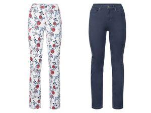 ESMARA® Hose Damen, mit Reißverschluss, aus Baumwolle und Elasthan