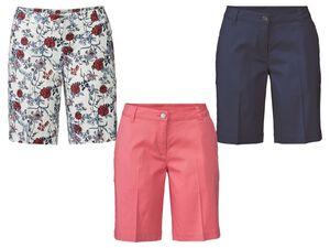ESMARA® Shorts Damen, mit seitlichen Eingrifftaschen, Reißverschluss, mit Baumwolle