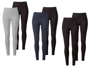 ESMARA® Leggings Damen, 2 Stück, Formstabilität, mit Bio-Baumwolle und Elasthan