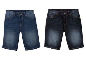 LIVERGY® Jeansbermuda Herren, aus Baumwolle und Leinen
