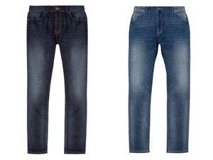 LIVERGY® Sommerjeans Herren, Straight Fit, im 5-Pocket-Style, aus Baumwolle und Leinen