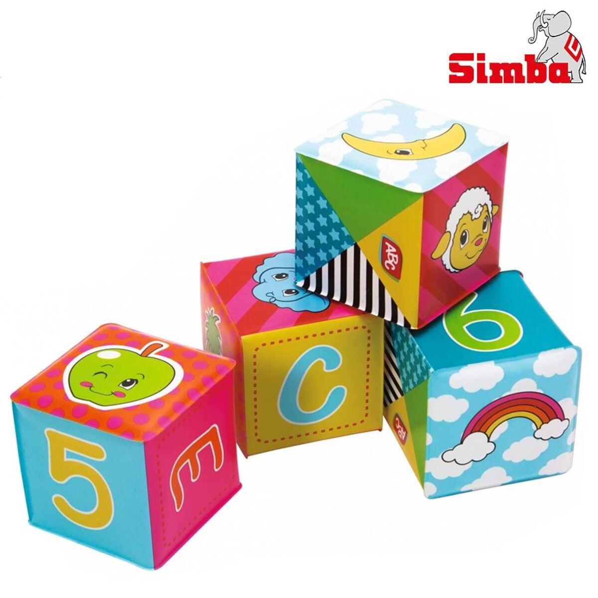 Bild 1 von Simba ABC weiche Spielwürfel 6er-Set