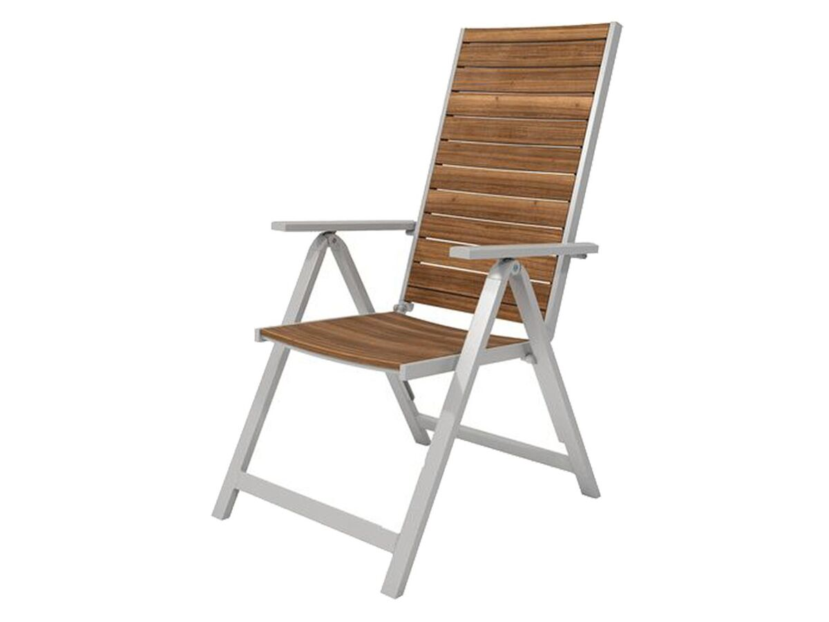 Bild 2 von FLORABEST Balkonmöbel Set, Alu/Holz, 3-teilig, Klappsessel