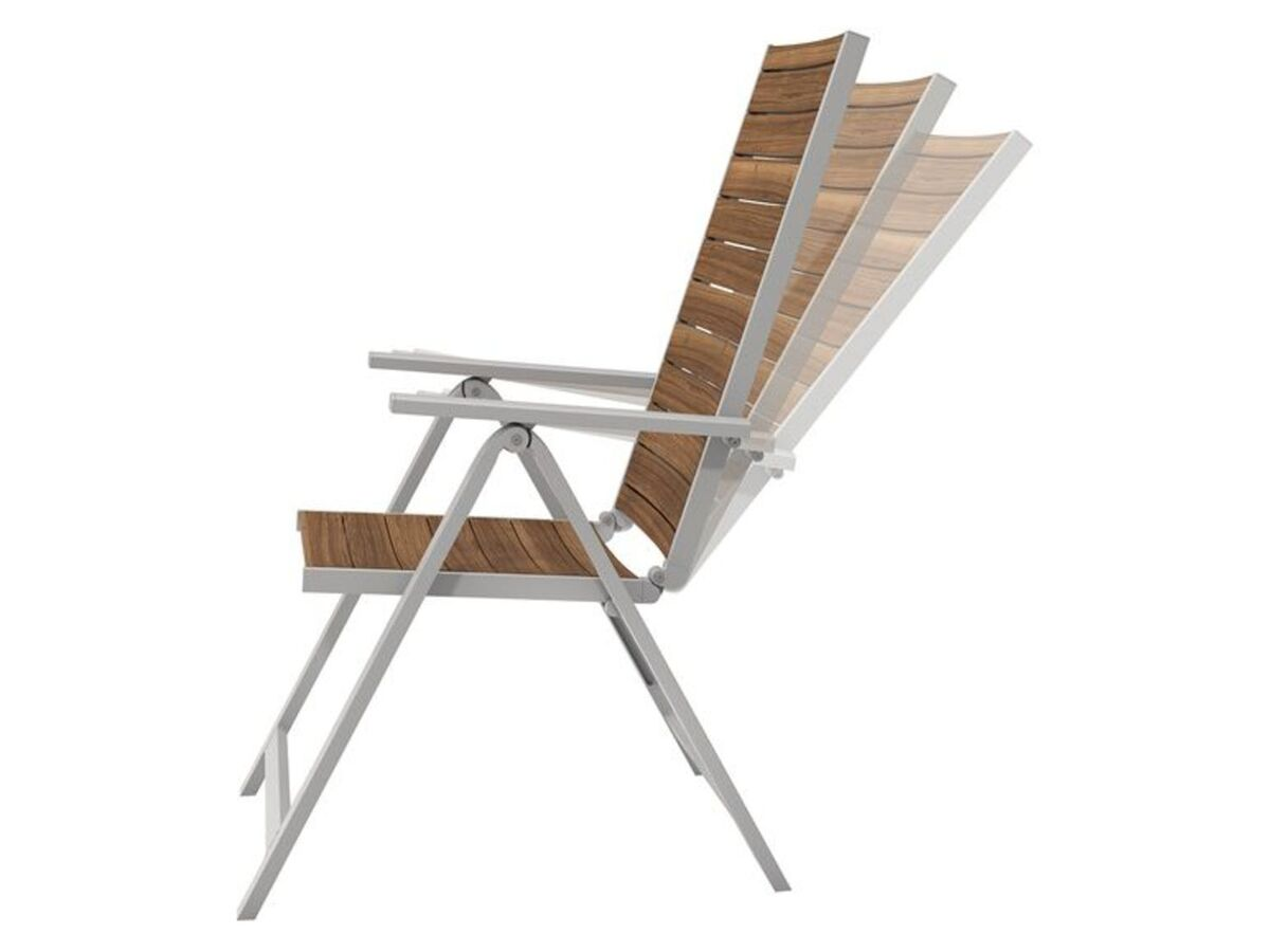 Bild 4 von FLORABEST Balkonmöbel Set, Alu/Holz, 3-teilig, Klappsessel