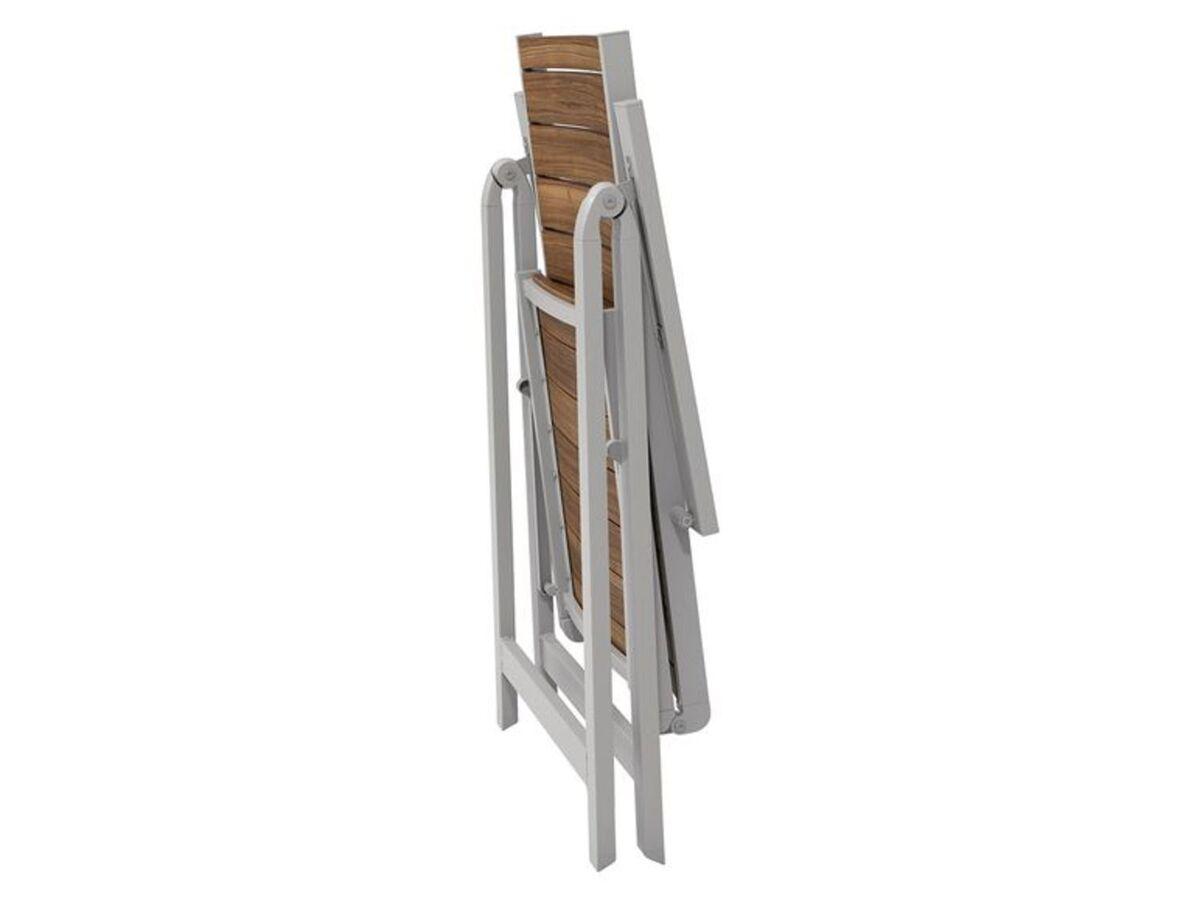 Bild 5 von FLORABEST Balkonmöbel Set, Alu/Holz, 3-teilig, Klappsessel