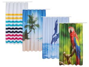 MIOMARE® Duschvorhang, 180 x 200 cm, waschbar, mit 12 Ösen und Befestigungsringen