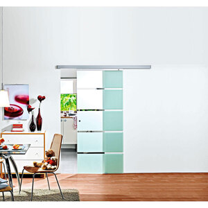 """Glasschiebetür """"Blockstreifen"""", 88x203,5 cm"""