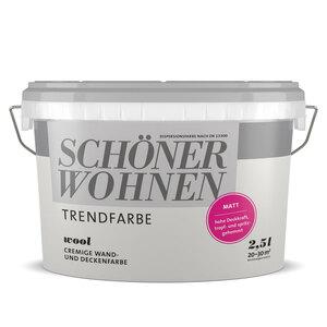 """Trend Wandfarbe """"Wool"""", matt, 2,5 L"""