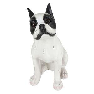Dekofigur Französiche Bulldogge 37,5cm Schwarz/Weiß