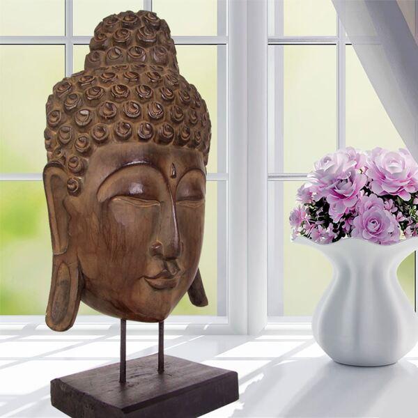 Buddha-Maske aus Albizia-Holz