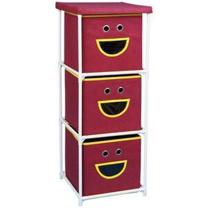 Stoffkommode Smiley mit 3 Schubladen