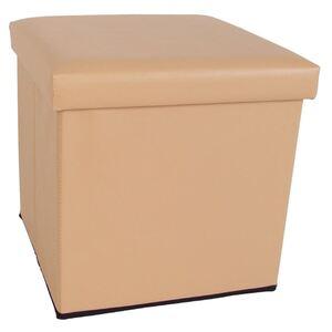 Sitzwürfel mit Stauraum 36x36cm Beige