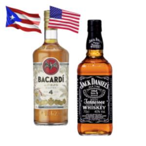 Jack Daniels Tennessee Whiskey, Honey, Fire, Jim Beam Black Whiskey oder