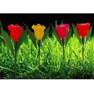LED-Solar-Blumenspieße 4er-Set