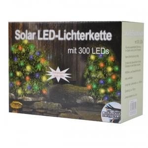 Solar LED-Lichterkette 300 bunt