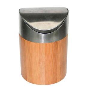 Bambus-Tischabfalleimer