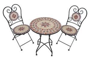 "Balkonset ""Mosaik Amarillo"" 3-teilig Garden Pleasure"