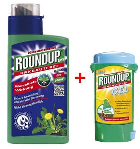 Unkrautmittel Roundup EASY 500 ml + Roundup Gel 150 ml.