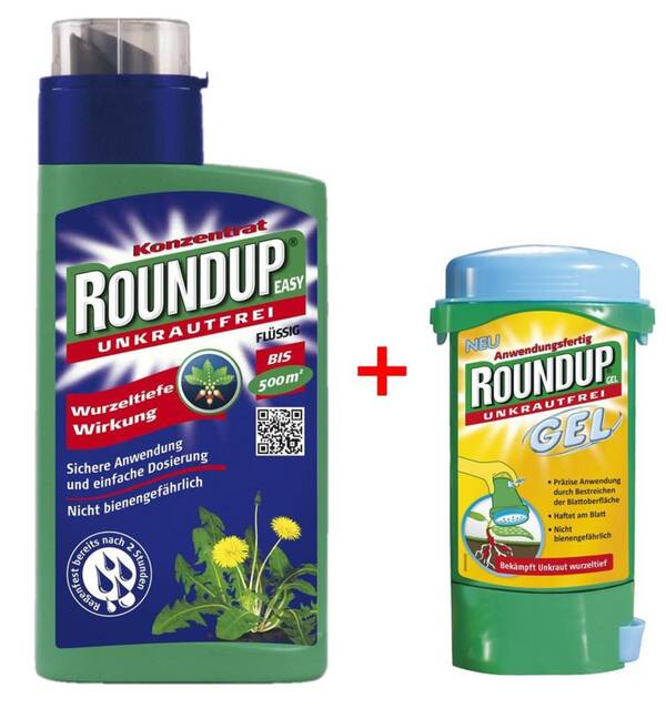 Unkrautmittel Roundup EASY 500 ml + Roundup Gel 150 ml.