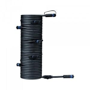 Paulmann Plug & Shine Kabel ,  IP68, 15 m, schwarz, mit sieben Anschlussbuchsen