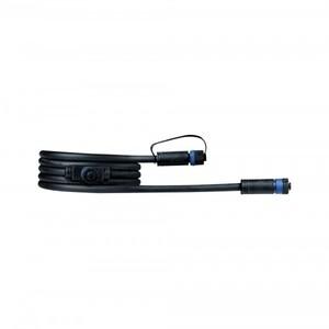 Paulmann Plug & Shine Kabel ,  IP68, 2 m, schwarz, mit zwei Anschlussbuchsen