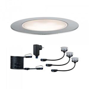 Paulmann Plug & Shine Basisset Floor Eco ,  IP65, 3000 K, 3 x 1 W, 24 V, silber