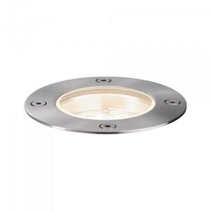 Paulmann Plug & Shine Bodeneinbauleuchte ,  IP65, rund, 3000 K, 4 W, 24 V, silber