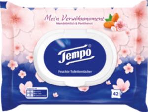 Tempo Feuchtes Toilettenpapier Mandelmilch & Panthenol