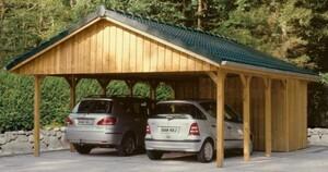 SKAN HOLZ Carport Sauerland ,  620 x 750 cm, Nadelholz, grün imprägniert