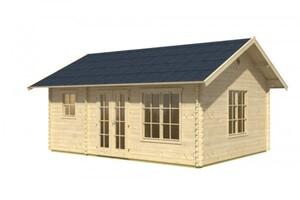 Skan Holz Blockhaus Esbjerg 2 ,  420x560 cm, Wandstärke 45 mm