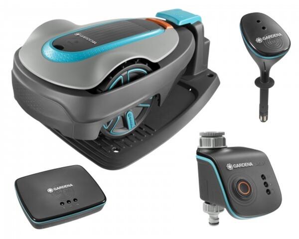 Gardena Mähroboter smart System StartSet Sileno City 500 ,  17 cm Schnittbreite, für 500 m², inkl. Water Control, Sensor und Gateway