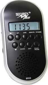 Security Plus BR28 MP3/USB Fahrradradio Schwarz/Silber