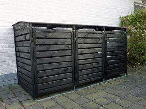 Promadino Mülltonnenbox für 3 Tonnen »Vario III«, zur Verkleidung von Mülltonnen, 3x 240 L
