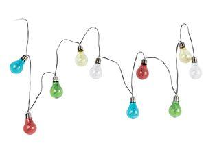 MELINERA® LED-Solarlichterkette, mit 10 Glühbirnen, aus robustem Kunststoff