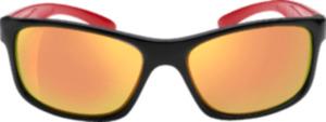 SUNDANCE Sonnenbrille für Kinder Schwarz mit roten Bügeln