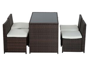 Outsunny Polyrattan Garnitur als 5-teiliges Set
