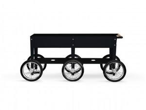 Herstera Hochbeet Kräuterfabrik Wheels 150 x 80 x 35 cm, schwarz